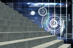 Composite image of grey steps Royalty Free Stock Photos
