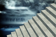 Composite image of grey steps Royalty Free Stock Images