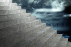 Composite image of grey steps Royalty Free Stock Photo