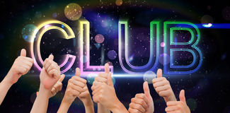 Composite image of group of hands giving thumbs up Royalty Free Stock Photography