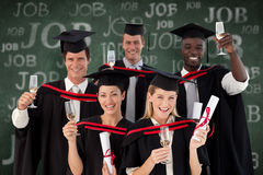 Composite image of group of people graduating from college Stock Image