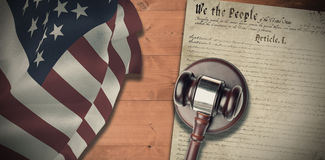 Composite image of hammer and gavel Stock Images