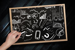 Composite image of hand drawing brainstorm with chalk Stock Photography