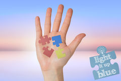 Composite image of hand with fingers spread out Stock Images