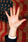 Composite image of hand with fingers spread out Stock Photography