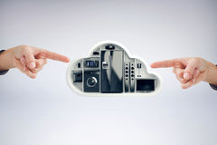 Composite image of hand pointing Stock Photography
