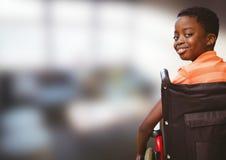 Composite image of handicap kid. Digital composite of Composite image of handicap kid Royalty Free Stock Photos