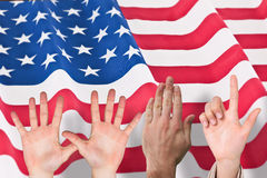 Composite image of hands Royalty Free Stock Photography