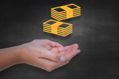 Composite image of hands presenting Royalty Free Stock Photos