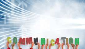 Composite image of hands showing communication Royalty Free Stock Images