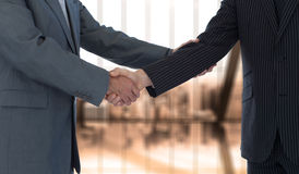 Composite image of handshake in agreement Royalty Free Stock Photo
