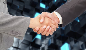 Composite image of handshake between two business people Stock Images