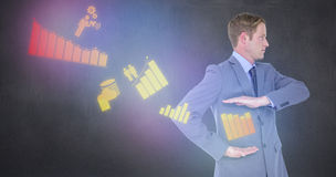 Composite image of handsome businessman gesturing with hands Royalty Free Stock Image