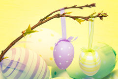 Composite image of hanging easter eggs Stock Photography