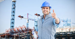 Composite image of happy architect Royalty Free Stock Images