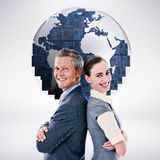 Composite image of happy business team Royalty Free Stock Image
