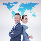 Composite image of happy business team Royalty Free Stock Photos