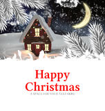 Composite image of happy christmas Royalty Free Stock Photos