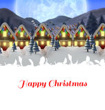 Composite image of happy christmas Royalty Free Stock Photography