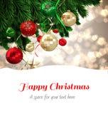 Composite image of happy christmas Stock Photo