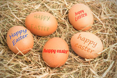 A Composite image of happy easter Stock Photos