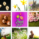 Composite image of happy easter Royalty Free Stock Photo