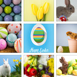 Composite image of happy easter Stock Photos