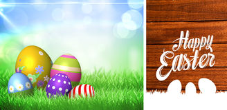 Composite image of happy easter Stock Images