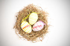 A Composite image of happy easter Royalty Free Stock Photo