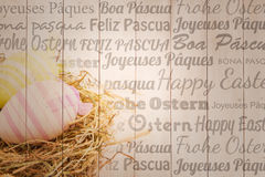 Composite image of happy easter in different languages Stock Photo
