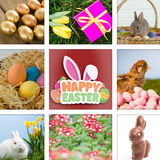 Composite image of happy easter graphic Royalty Free Stock Photos
