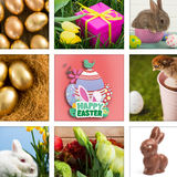 Composite image of happy easter graphic Stock Photography