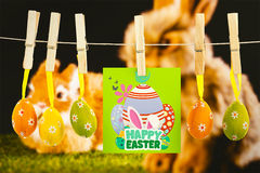 Composite image of happy easter graphic Royalty Free Stock Image