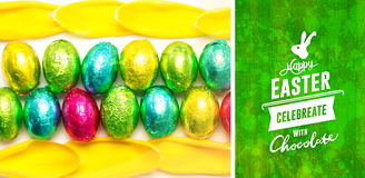 Composite image of happy easter graphic Royalty Free Stock Images
