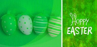 Composite image of happy easter graphic Stock Images