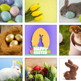Composite image of happy easter graphic Royalty Free Stock Photography
