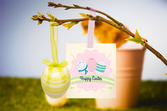 Composite image of happy easter graphic Stock Photos