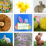 Composite image of happy easter greeting Stock Photography