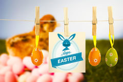 Composite image of happy easter greeting Royalty Free Stock Images