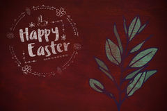 Composite image of happy easter white logo against a black background Royalty Free Stock Photography