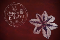 Composite image of happy easter white logo against a black background Royalty Free Stock Image
