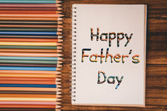 Composite image of happy fathers day Royalty Free Stock Photos