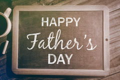 Composite image of happy fathers day Royalty Free Stock Photo