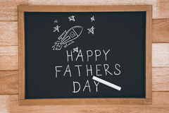 Composite image of happy fathers day Stock Image