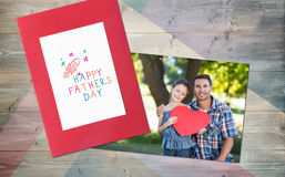 Composite image of happy fathers day Royalty Free Stock Photography