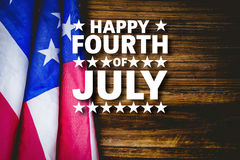 Composite image of happy fourth of july Stock Image