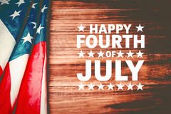 Composite image of happy fourth of july Royalty Free Stock Photography