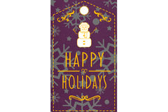 Composite image of happy holidays banner Royalty Free Stock Photo