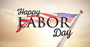 Composite image of happy labor day text with star shape Royalty Free Stock Images