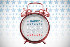 Composite image of happy labor day text with star shape Stock Image